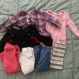 Baby Girls 18 Month Clothes Bundle Pants 7 Pieces